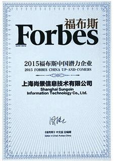 2015 福布斯中国潜力企业